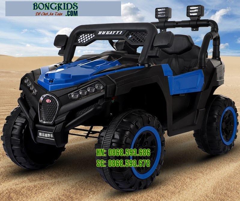 Xe ô tô điện trẻ em Bugatiti Jeep màu xanh