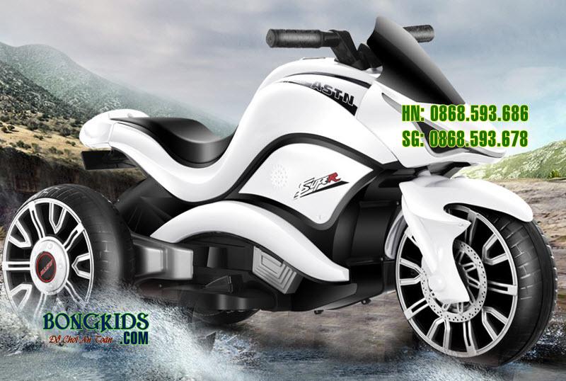 Xe máy điện trẻ em XJDD 209 màu trắng
