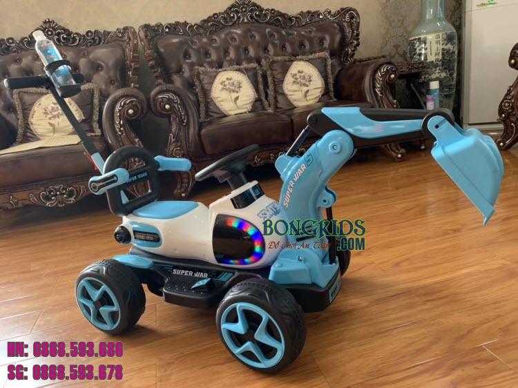 Xe cần cẩu điện cho trẻ em 9188 màu xanh lục
