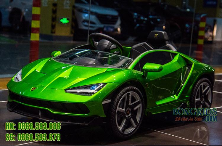 Xe ô tô điện trẻ em Lamborghini 6726R màu xanh