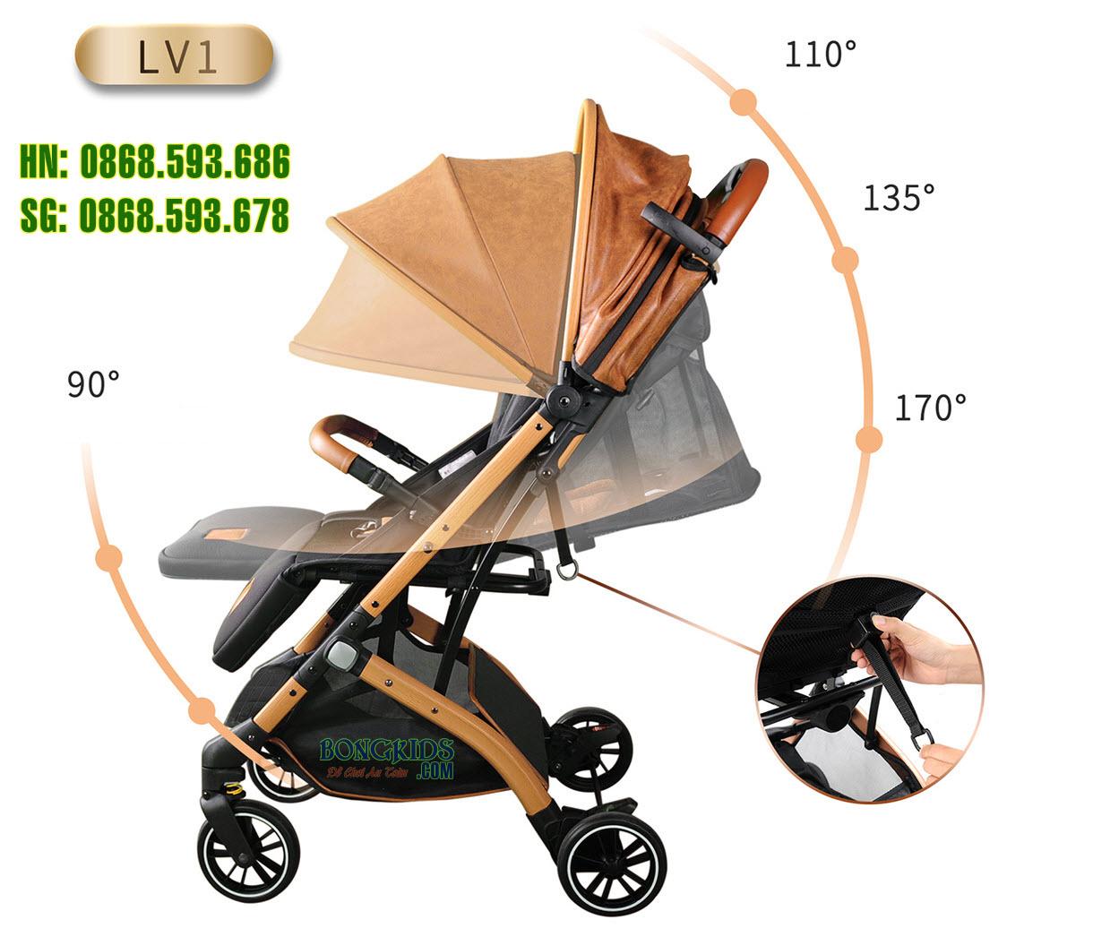Xe đẩy em bé Babaohao LV1