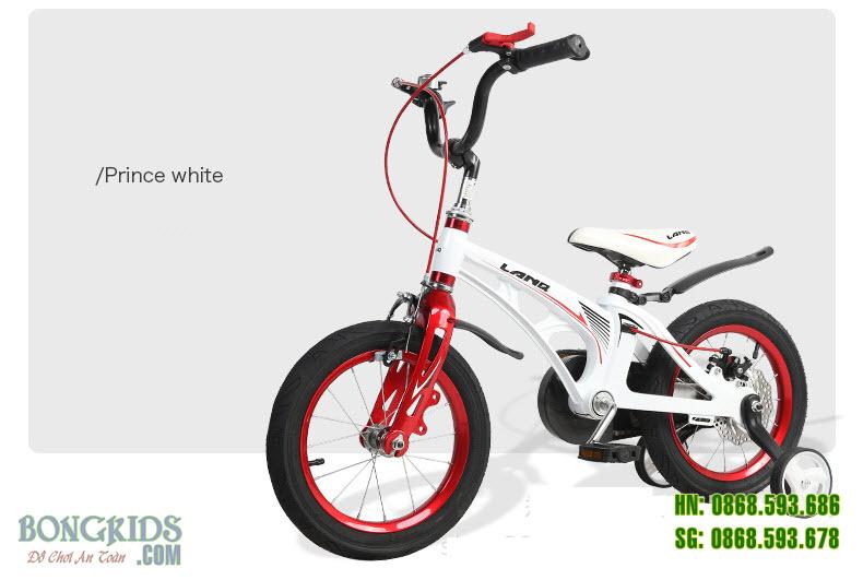 Xe đạp trẻ em LANQ 46 - Vành nan hoa màu trắng