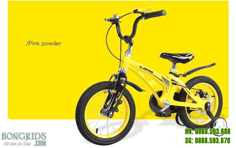Xe đạp trẻ em LANQ 46 màu vàng- Vành nan hoa