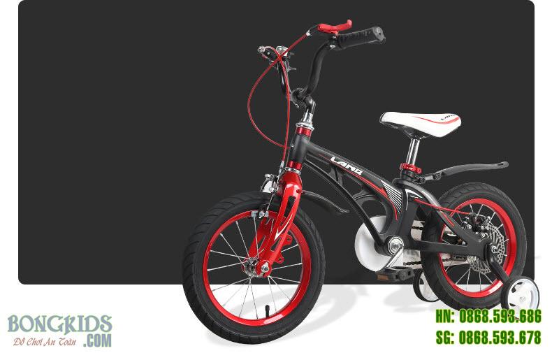 Xe đạp trẻ em LANQ 46 màu đen- Vành nan hoa