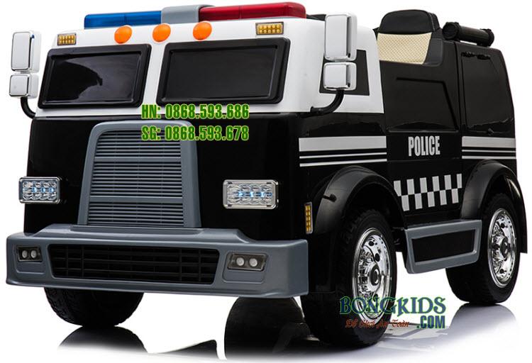 Xe ô tô cứu hỏa điện trẻ em LL911 màu đen
