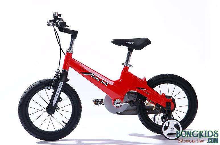 Xe đạp trẻ em cao cấp Baby Doll BWT203 màu đỏ