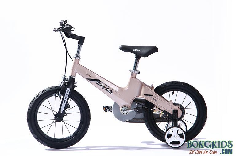 Xe đạp trẻ em cao cấp Baby Doll BWT203 màu đồng