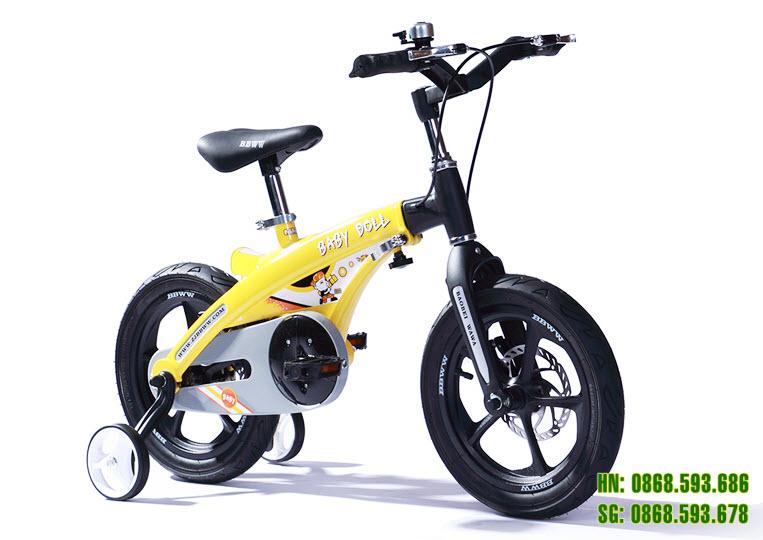 Xe đạp trẻ em cao cấp Baby Doll BWT 201 - Vành Đúc - Phanh Đĩa