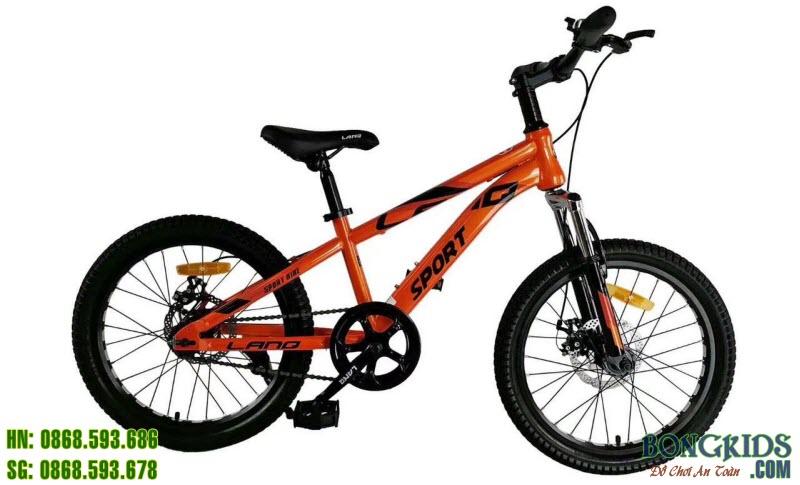 Xe đạp trẻ em Sport VA220 màu cam ko đề