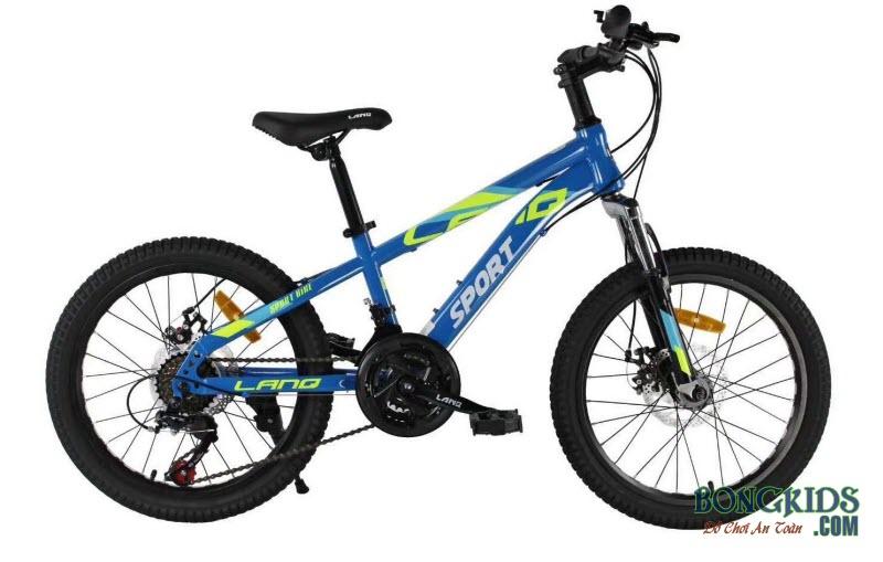Xe đạp trẻ em dáng thể thao LanQ Sport VA220 xanh có đề