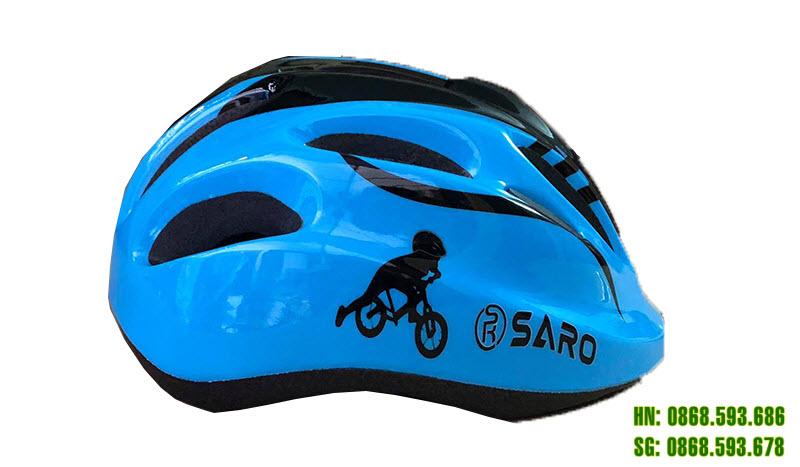 Mũ bảo hiểm Saro cho bé màu xanh dương