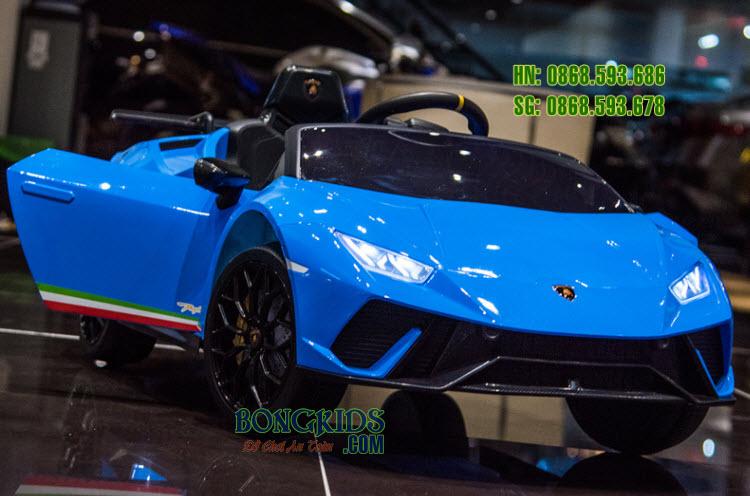 Xe hơi điện trẻ em Lamborghini S308 màu xanh