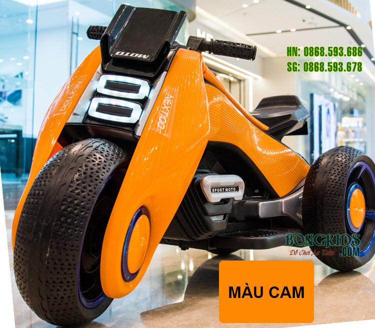 Xe máy điện trẻ em BDQ6199 màu cam