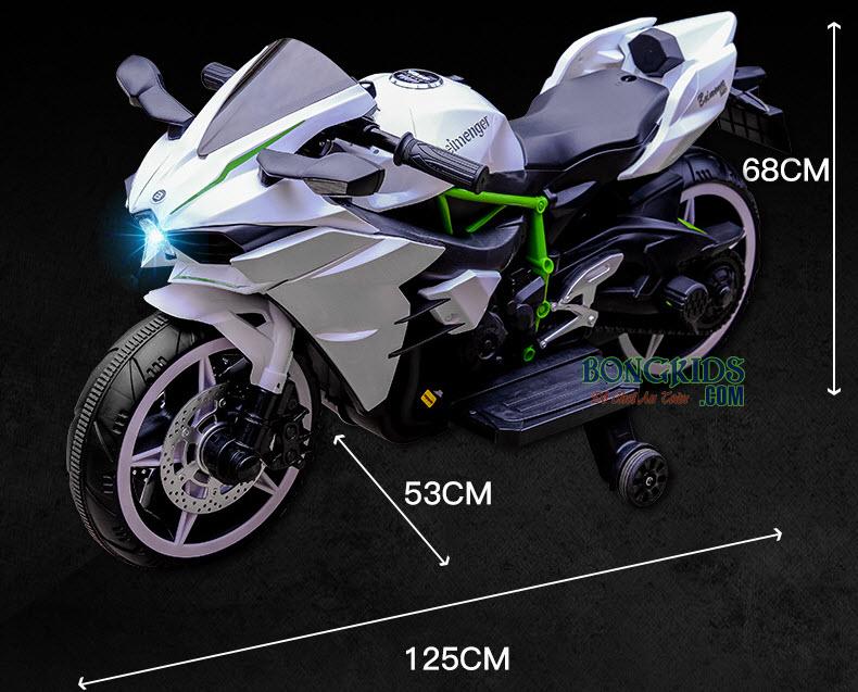 Kích thước xe máy điện trẻ em H2