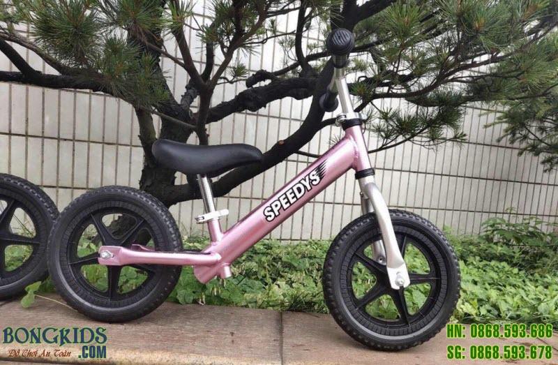 Xe thăng bằng cao cấp màu hồng cho bé gái