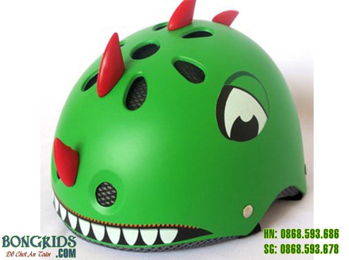 Mũ bảo hiểm khủng long màu xanh lá