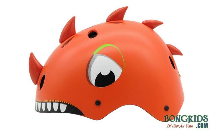 Mũ bảo hiểm cho bé màu cam