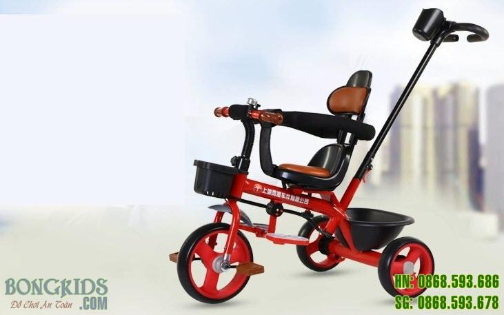 Xe đạp 3 bánh trẻ em K301 màu đỏ
