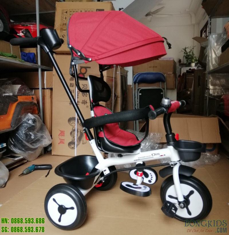 Xe đạp 3 bánh DS-138 màu đỏ