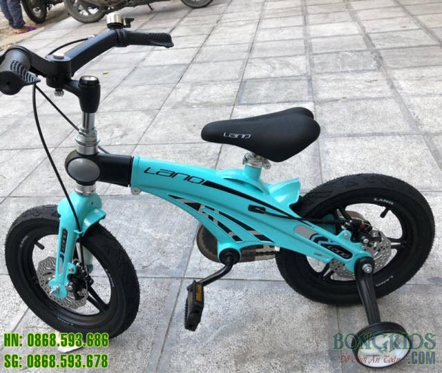 Xe đạp trẻ em lanq fd kéo khung màu xanh