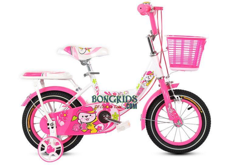 Xe đạp trẻ em công chúa cho bé gái màu hồng