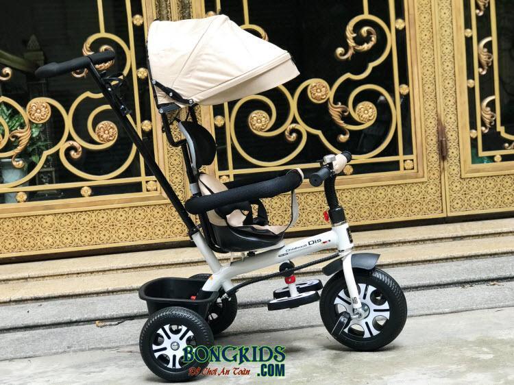 Xe đạp 3 bánh trẻ em DS-138 màu trắng