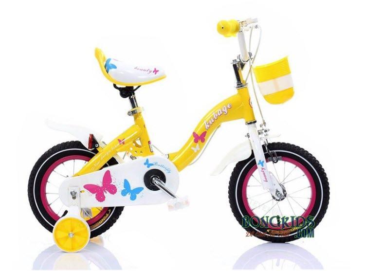 Xe đạp trẻ em AIER-188 màu vàng