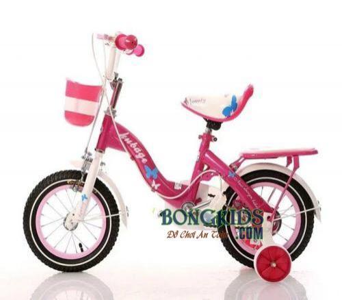 Xe đạp trẻ em AIER-188 màu hồng