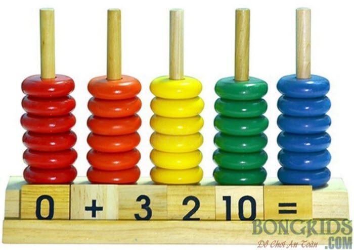 Đồ chơi bàn tính học đếm và số đến 10