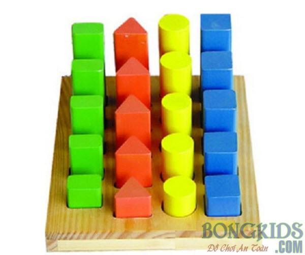 Bảng khối trụ học đếm và so sánh cho bé - bongkids.com