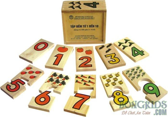 Đồ chơi bộ học đếm đến 10 cho bé - bongkids.com
