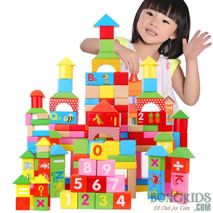 Bộ xếp hình lâu đài cho bé - bongkids.com