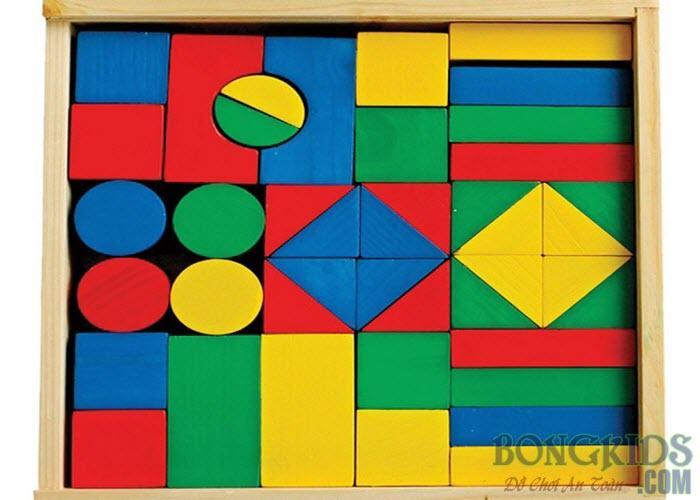 Bộ xếp hình xây dựng 44 chi tiết Sơn Màu rất đẹp