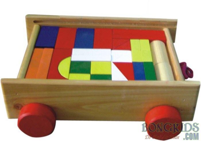 Bộ xếp hình xây dựng 44 chi tiết sơn màu trên xe