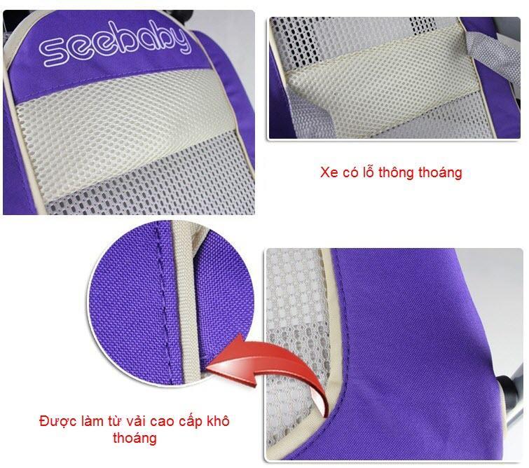 Chất liệu xe đẩy cho bé SeeBaby QQ1