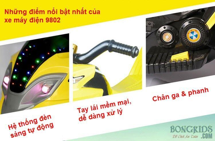Những điểm nổi bật xe máy điện trẻ em 9802
