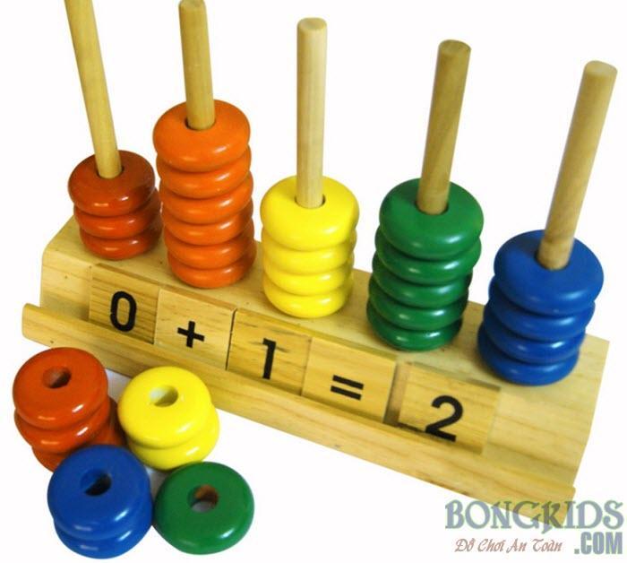 Bàn tính học số và đếm đến 10 màu sắc hấp dẫn trẻ em