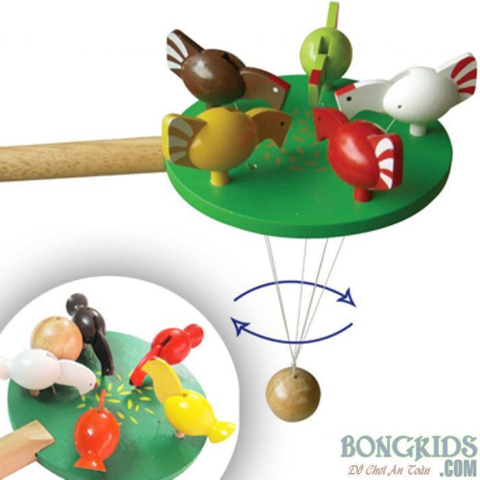 Đồ chơi giáo dục đàn gà mổ thóc - bongkids.com