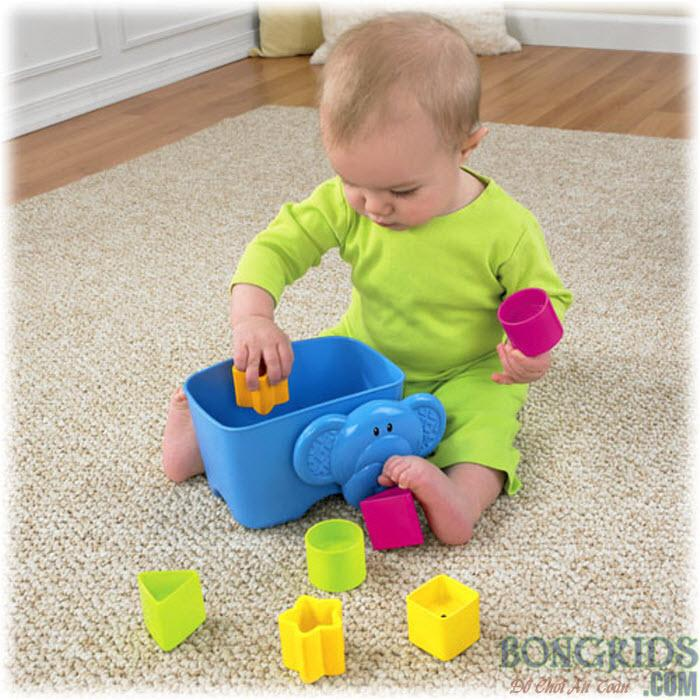 Mua đồ chơi thả khối voi con - bongkids.com