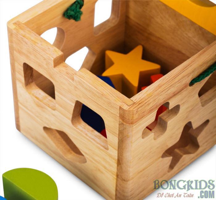 Đồ chơi giỏ thả 12 khối cho bé - bongkids.com