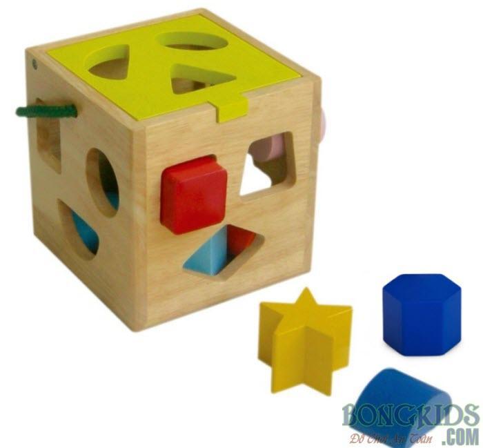 Mua đồ chơi giỏ thả 12 khối cho bé - bongkids.com