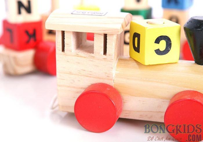 Đoàn tàu chở chữ và số - đồ chơi giáo dục