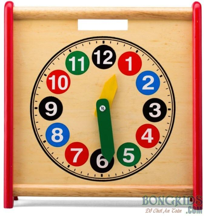 Mua đồng hồ học đếm 2 mặt - bongkids.com