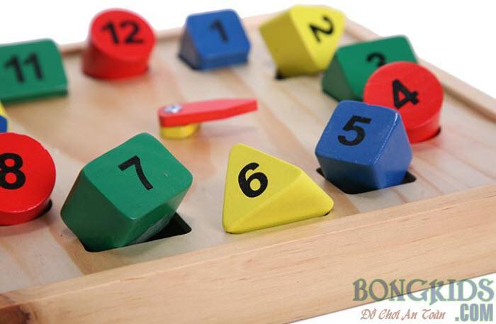 Đồ hồ học số - đồ chơi giáo dục giá rẻ