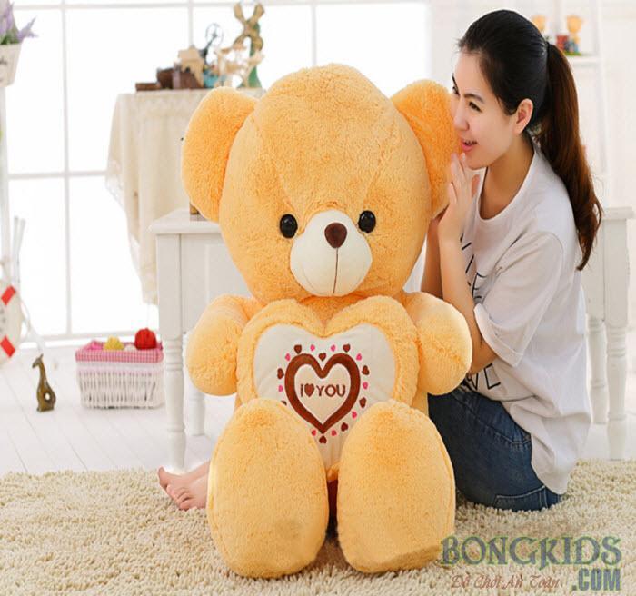 Gấu Teddy ôm tim socola giá tốt