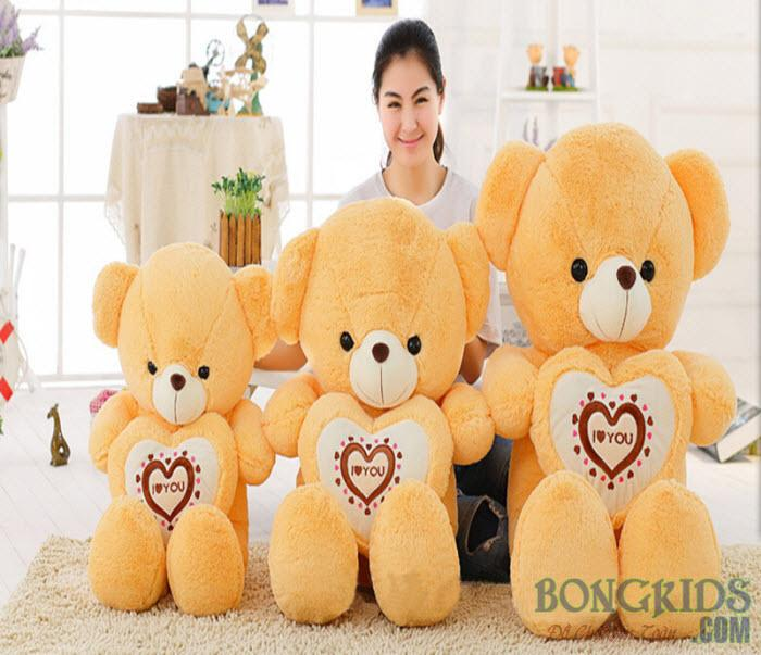 Gấu Teddy ôm tim socola cực yêu
