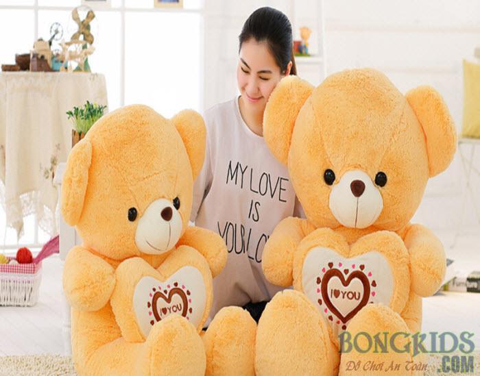 Gấu Teddy ôm tim socola đẹp