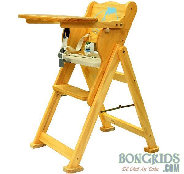 Ghế ăn bột bằng gỗ cho bé IQ Toys 2