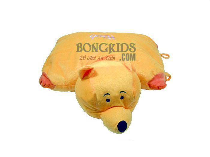 Gối cúc bông mặt pooh - bongkids.com