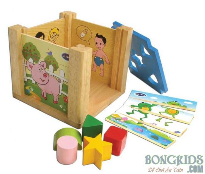 Đồ chơi thả khối hộp xếp hình - bongkids.com